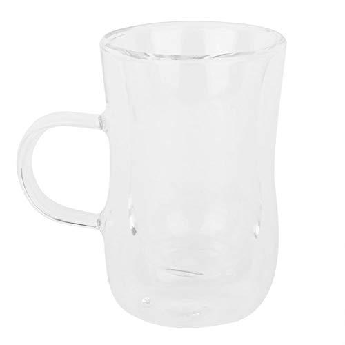 Cómoda Taza de té Premium Resistente al Calor Taza de café de Vidrio de Doble Pared Taza de Cerveza para Beber Agua té
