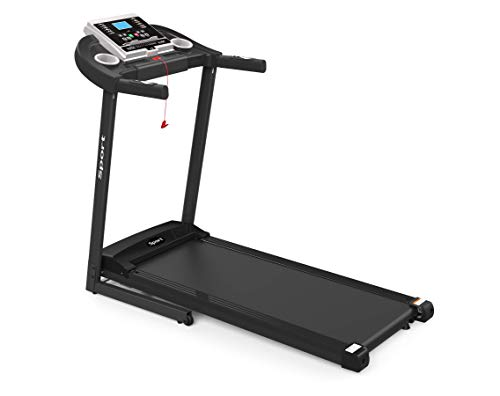 Folding Treadmill, Portable Electric Incline Running Machine, Treadmill Foldable with Cup/Phone Holders Heart Monitor for Home Ues