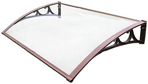 Toldo para ventana Patio cubierta refugio de jardín al aire libre Patio de sombra techo protege del sol, lluvia, nieve cubierta de puerta frontal al aire libre porche Pabellón de la puerta del refugio