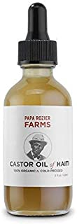 Organic Castor Oil - How Mother Nature Would Want It - 2oz - 100% Pure - Cold Pressed - Hexane Free - For Hair, Skin, Eyelashes, Eyebrows & Nails - from Papa Rozier Farms
