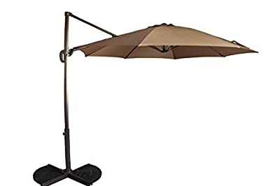 PATIO KINGDOM 10ft Patio Umbrella Outdoor, Waterproof Table Umbrella Market with UV Protection,Stable and Durable Yard Umbrella with 360 Swivel w/Easy Tilt - Brown