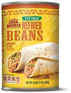 Casa Mamita Fat Free Refried Beans (Gluten Free) - 1 Can (1 lb.)