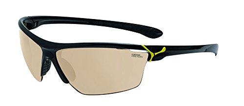 Cébé CBCINETIK1 Cinetik L - Gafas de sol con cristales intercambiables, montura colo negro y amarillo, talla L