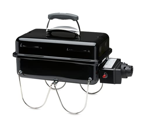 Weber 1141079 Gasgrill Go-Anywhere, schwarz, mobiler Grill, Campinggrill