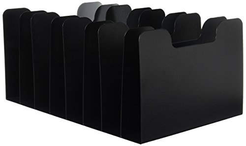 Buddy Products Classic 8 Pocket Vertical Separator, Steel, 10.75 x 7.25 x 15.75 Inches, Black (0580-4)