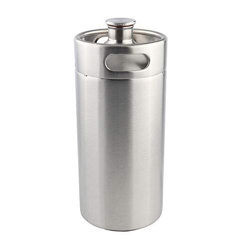 3.6L Edelstahl Mini Fass Growler Weintopf, Homebrew Stainless Karbonisieren Bier-Fass Picknick mini growler Für Bar-Tool