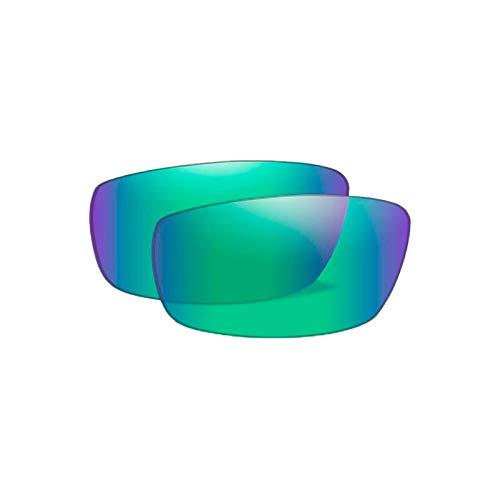 Wiley X - Polarized Emerald Mirror Lenses for Omega