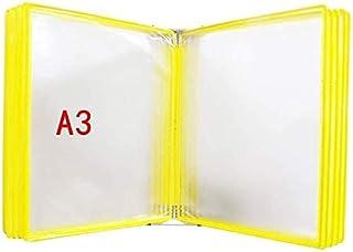 WWXL Dossier de Magazine, présentoir de Documents pour classeurs de Bureau A3 avec 10 Panneaux et 20 Poches Étude à Domici...