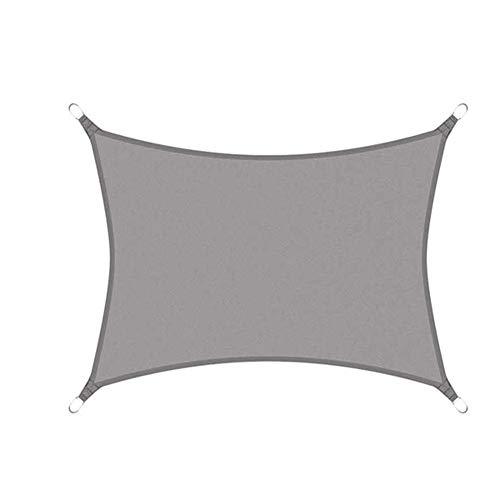 No logo Nevy - rechthoekig zonnezeil grijs waterdicht Oxford stof tuin terras Canopy zwemmen zonwering camping wandelen Yard Sail luifel 6x8m grijs
