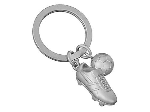 Fußball Schlüsselanhänger Ball Fußballschuh Metall silberfarben MTM-SH-21