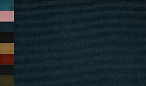 Stoffbook Tela elástica de algodón cord, E321 (azul petróleo)