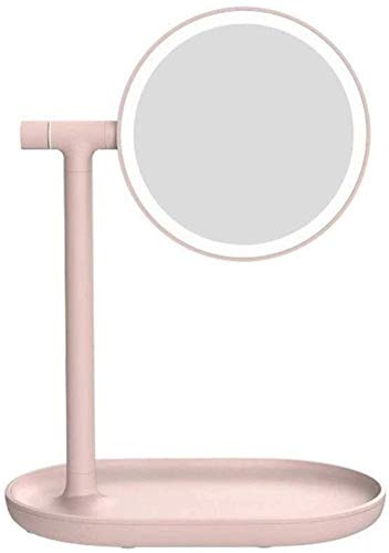 Modern Creativity Vanity Mirror With Lights For Makeup, Dressing Table Mirror With Led Lights Desktop Storage Perfect Birthday Present For Girl Kids, Suitable for Various Occasions