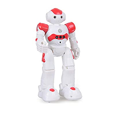 SAROOSY RC Robot Toy-Smart Robot, High-Tech Artificial Intelligence Robot/Educational Toy for Children Humanoid Sense Inductive RC Robot (Red)