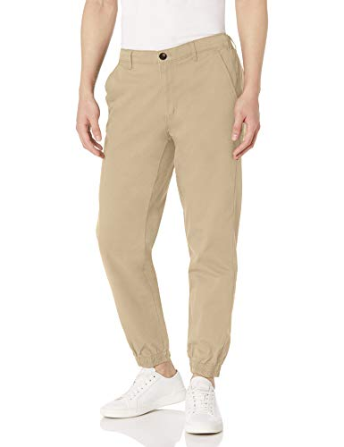 Amazon Essentials Men's Straight-Fit Jogger Pant, Khaki, Large