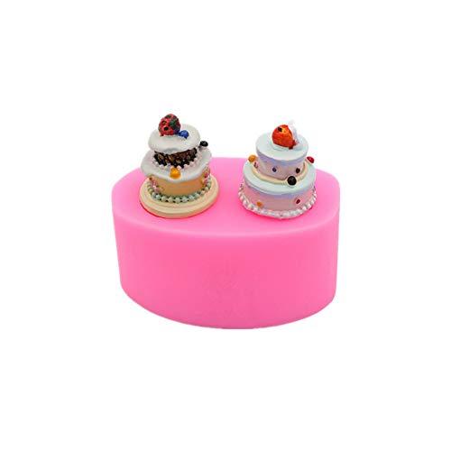 WYNYX Gadgets Fondant Molds Miniature Cake Silicone Mold Sweets Dollhouse Charm Diy Cabochon Resin Polymer Clay Fruit Strawberry