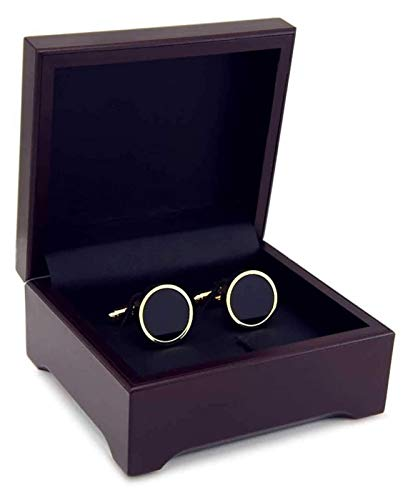 XIXINYA Men's Cufflinks Faux Black Agate Gold Plated Cufflinks Business Casual Men's and Women's Cufflinks Cufflinks