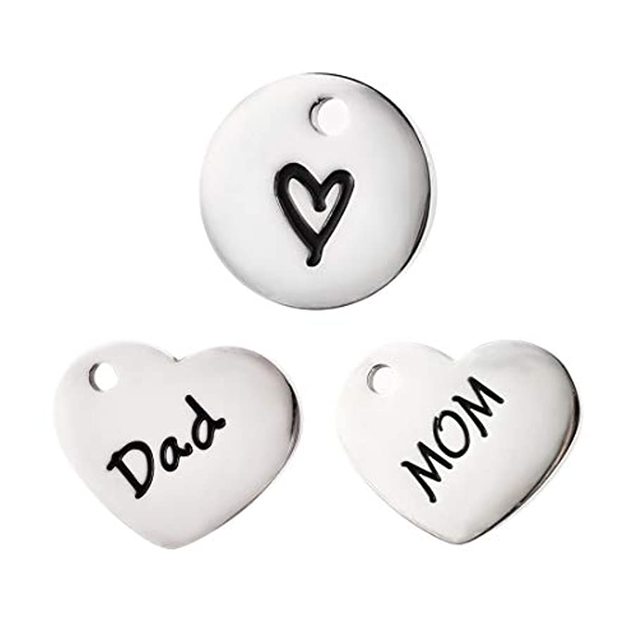 Stainless Steel Message Charms Pendants Family Series Jewelry Making Accessory for DIY Necklace Bracelet Beads Charms Pendants #11