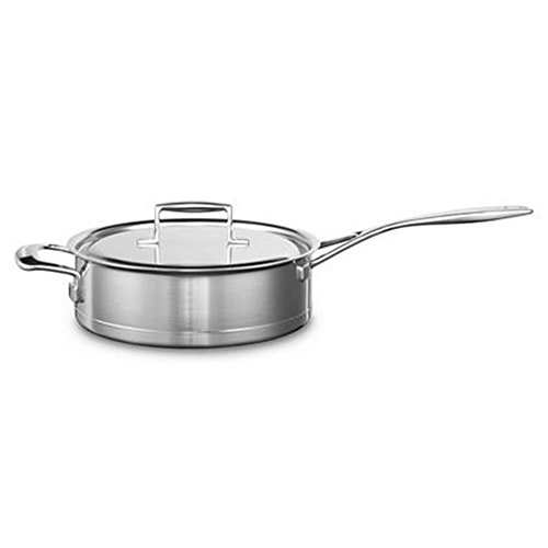 KitchenAid Kasserolle, Edelstahl, Silber, 24 cm