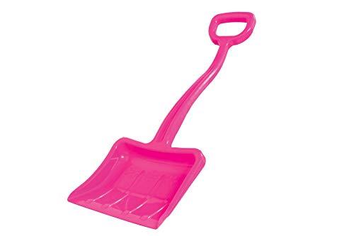 Jamara 460402 - Snow Play Schneeschaufel Tally 70 cm pink - Kunststoffstiel mit handlichem D-Griff, robuster und stabiler Kunststoff, verstärkungsrippen im Schaufelblatt für gute Streifigkeit