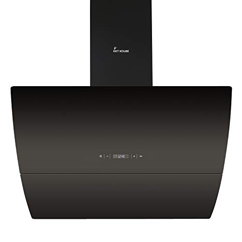 Campana extractora de pared (90 cm, acero inoxidable, cristal negro, extra silenciosa, 593m³/h, iluminación LED, 4 niveles, teclas de sensor TouchSelect) CURVE906S - KKT KOLBE