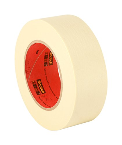 3M 2364 Performance Masking Tape - 2 in. x 180 ft. Tan, Rubber Adhesive, Crepe Paper Backing Painters Tape Roll