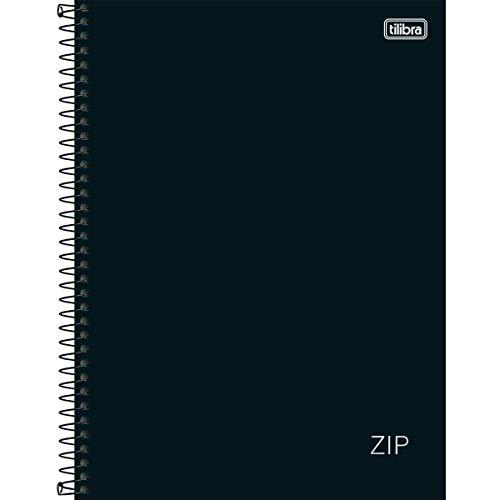 Caderno Espiral Capa Dura Universitário 10 Matérias Zip Preto 160 Folhas, Tilibra, 305421