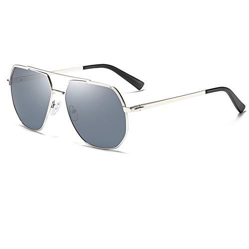 SWNN Sunglasses Nuevas Gafas De Sol Polarizadas for Hombre Gafas De Conducir for Exteriores Estilo Retro Polígono Protección UV400 (Color : Gray)