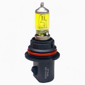 100w Golden Yellow 1 Pair Xenon HID Light Bulbs For 92 93 94 95 96 97 98 99 00 01 02 03 Ford F-150 F-250 F-350 All (Set of 2 9007)