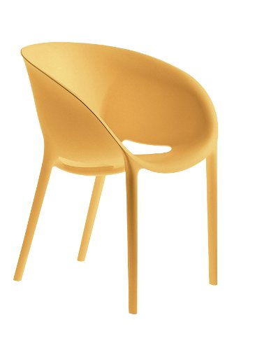 driade Soft Egg stoel by Philippe Starck conf. 4 stuks. Oranje.