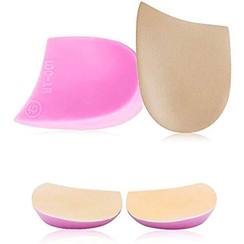 Pediment Ferseneinlagen für O/X Beine  (1 Paar) | Orthopädische Einlegesohle mit perfektem Design Halbkugel-Design für Bogenbeine und X-Beine | Unisex | Fußpflege