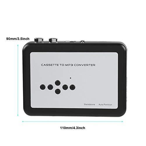 ZXY Estéreo Reproductor de Casete, Cinta portátil Walkman de Casete USB Reproductor Independiente Cinta de Casete de Audio a MP3 Convertidor Guardar en U Disco Hay Necesidad de Controladores para PC