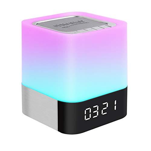 Nachttischlampe mit kabellosem Bluetooth-Lautsprecher, dimmbar, Warmweiß, Tischlampe & RGB Farbwechsel-LED-Lautsprecher, Stimmungslicht, tolles Geschenk für Damen, Herren, Teenager, Kinder Typ B