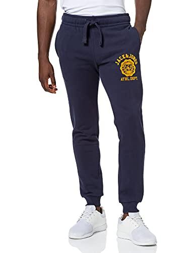 JACK & JONES Herren JJIGORDON JJRALPH Sweat Pants NAFA Jogginghose, Navy Blazer, L
