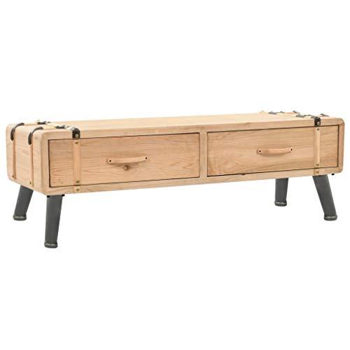 N/O Viel Spaß beim Einkaufen mit TV-Schrank Tannenholz Massiv 120 × 33 × 35 cm