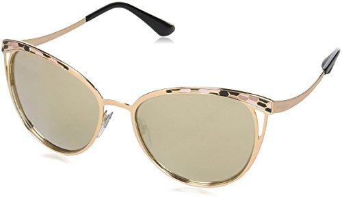 Bulgari 0Bv6083 20145A 56 Gafas de sol, Dorado (Pink/Brown Dark), Unisex-Adulto