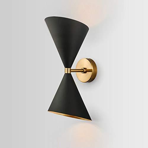 lxc Personalidad De Cabeza Cuerno Escandinavo Moderno Minimalista Negro Lámpara De Pared Decorativa Villa Lámpara De Cabecera del Pasillo Escaleras Pasillo 16 * 15 * 40cm