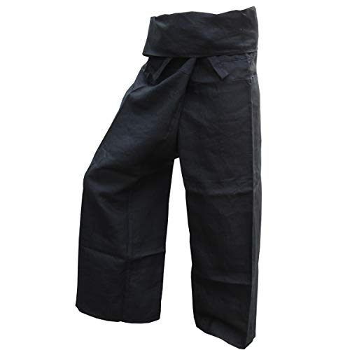 PANASIAM Fisher Pants, 100% Hemp, Black