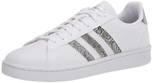 adidas Unisex Grand Court Tennis Shoe, White/Grey/Black, 7 US Women