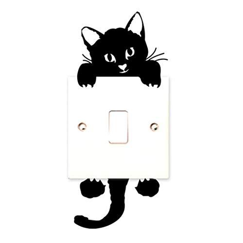 Mitlfuny - Adhesivo decorativo para pared, diseño de gato