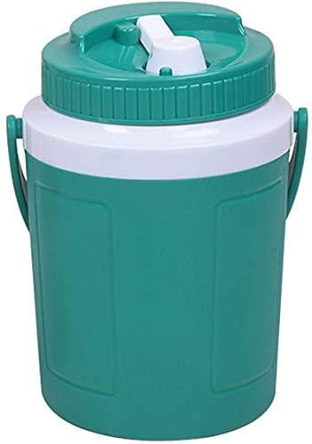 HGYLMC Cubo de Hielo con Tapa, refrigerador portátil, Calentamiento de Alimentos de Verano y Ronda fría con asa para plástico para Bebidas de Bebidas de Bebidas de (Verde 3.5L)
