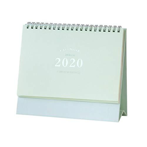 STOBOK Calendario de escritorio 2020 calendario de escritorio de mesa para uso doméstico y de oficina (verde)