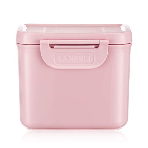 LANEYLI Formula Dispenser with Scoop Milk Powder Formula Containers for Travel Baby Food Storage and Snack Cup for Outdoor Activities On-The-Go Pink(Outer Box Capacity: 0.92 LB(420 g))