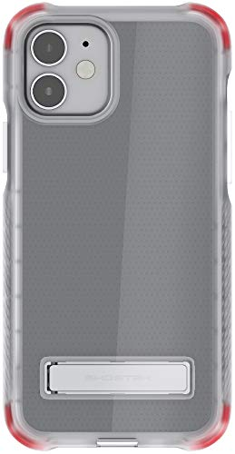 Ghostek Covert Clear Designed for iPhone 12 Case and iPhone 12 Pro Case Metal Stand Compatible with MagSafe and Wireless Charging Silicone Cover 2020 iPhone12 5G and iPhone 12Pro 5G (6.1 Inch) (Clear)