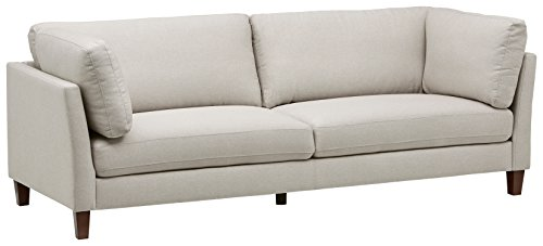 Amazon Marke -Rivet Midtown Modernes Sofa mit abnehmbaren Kissen, B 234cm, Kremfarben