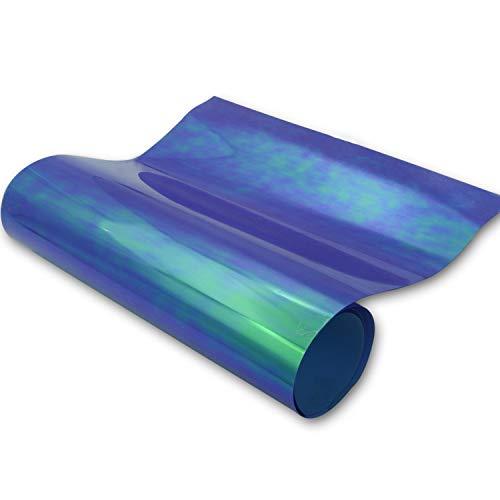 Vinilo holográfico de transferencia de calor púrpura azul jacinto 30 cm x 3 m hierro en cromo vinilo 5 x 30 cm para ropa y tela