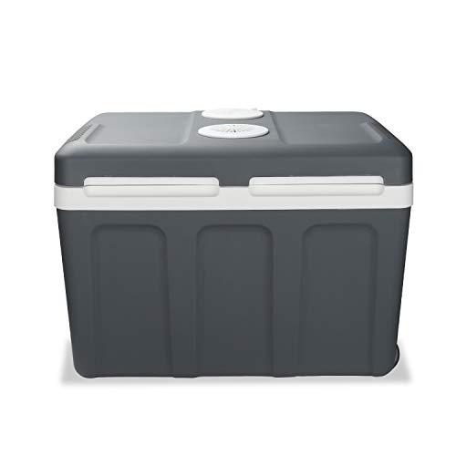 wolketon Kühlbox Thermo-elektrische, 40 Liter, WÄRMT und KÜHLT, tragbare Mini-Kühlschrank mit Rollen, ECO-Modus, 12 V und 230 V für Auto, Boot, Camping, Familie
