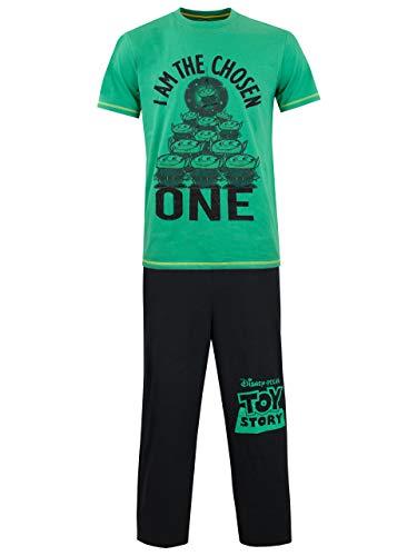 Disney 100% Baumwolle Pyjama und Kurzarm T-Shirt mit einem großen Aufdruck von Aliens und dem Slogan