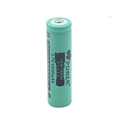 josiedf 18650 BateríAs Recargables 3.7v 4500Mah Batería De Iones De Litio De Litio, 18650 Botón De Batería Superior para MicróFono De Linterna 1PCS