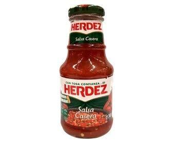 Herdez – Salsa Casera – Traditionele Tomatensaus met Cilantro Chili en Ui – Mexicaans Product -240 Gram