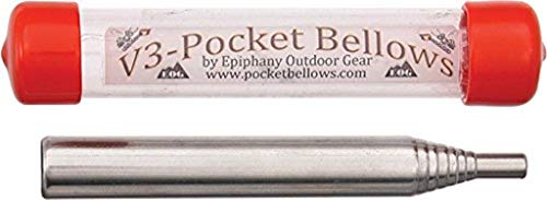 Epiphany Outdoor Gear Pocket Bellows - Weatherproof Collapsible Fire Bellowing Tool for Starting Fire- An Essential Camping Gear